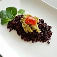 Ricetta correlata Venus rice with mushroom pesto and zucchini