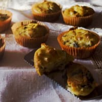 Ricetta correlata Muffin with savory eggplant and scamorza