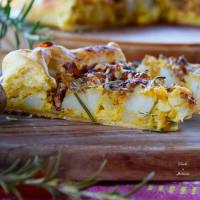 Ricetta correlata Quiche alla zucca e patate dolci con scamorza affumicata,noci e rosmar