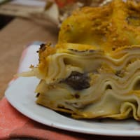 Ricetta correlata Lasagne with pumpkin pesto and mushrooms