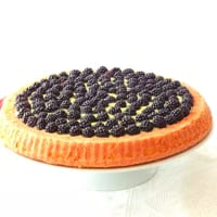Ricetta correlata soft cake with blackberries and custard