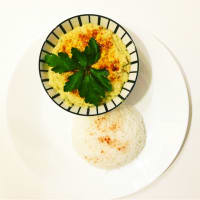 Ricetta correlata Steamed rice and hummus