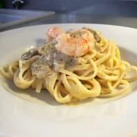 Ricetta correlata Trenette with prawns, artichokes and lemon zest