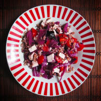 Ricetta correlata Farro purple cabbage and marinated tofu