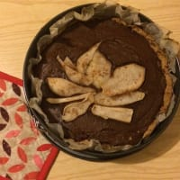 Ricetta correlata Buckwheat tart with ricotta cream, chocolate and pears