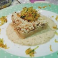 Ricetta correlata Fregula of chickpea cream with zucchini and carrots