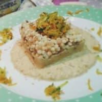 Ricetta correlata Fregula su crema di ceci con zucchine e carote