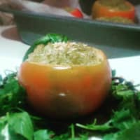 Ricetta correlata Baked tomatoes stuffed with basmati rice and homemade pesto
