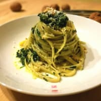 Ricetta correlata Linguine with pesto spinach and walnuts