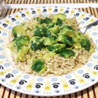 Ricetta correlata Rice with coconut milk curry and brussels sprouts