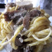 Ricetta correlata Noodles with soy cream, artichokes and mushrooms