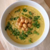 Ricetta correlata Jerusalem artichoke soup with chickpeas