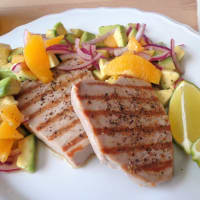 Ricetta correlata Tonno con lime, avocado e arancia