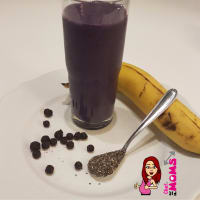 Ricetta correlata Smoothie of banana and blueberries