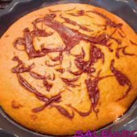Ricetta correlata Integral orange cake with Nutella variegated