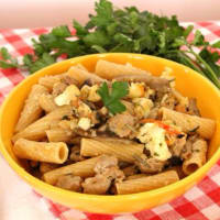 Ricetta correlata Rigatoni with cauliflower, sausage and mushrooms