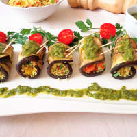 Ricetta correlata Eggplant rolls with pesto and couscous