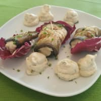 Ricetta correlata Eggplant rolls with cheese cashew with olives