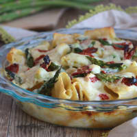 Ricetta correlata Baked pasta with asparagus and sun-dried tomatoes
