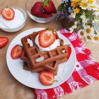 Ricetta correlata protein coconut and chocolate Waffle