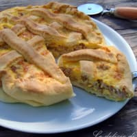 Ricetta correlata Salty cake with onion and sausage