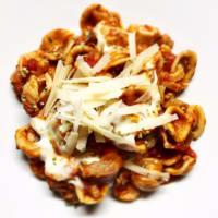 Ricetta correlata Orecchiette integrali al sugo di parmigiana