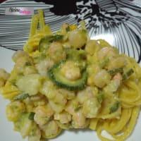 Ricetta correlata tagliolini con zucchine e gamberetti in giallo