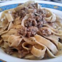 Ricetta correlata Tagliatelle with truffle with white ragout
