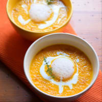 Ricetta correlata Pumpkin velvet with coconut milk, bottarga and lemon air