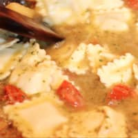 Ricetta correlata Ravioriselli Spalmarisella e Spinaci con pesto di erbe spontanee