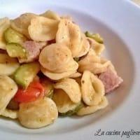 Ricetta correlata Orecchiette con zucchine, speck e pomodorini