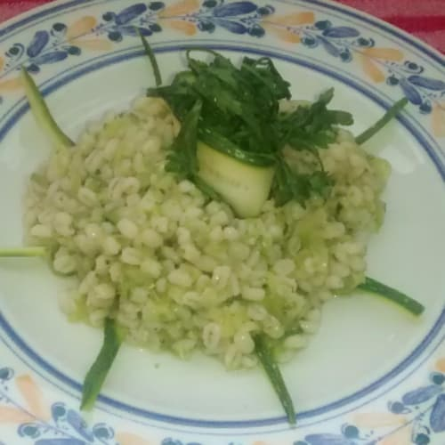 Foto Ricetta Orzo perlato alle zucchine