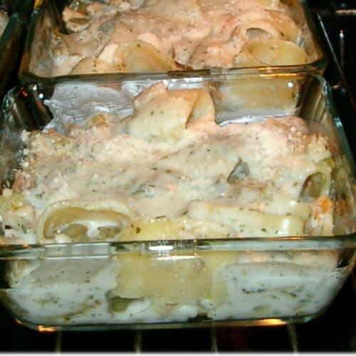 Foto Ricetta Terrinetta di pasta gratinata con ragù ai carciofi