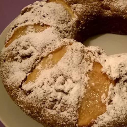 Foto Ricetta Torta con mele, noci e cioccolato fondente