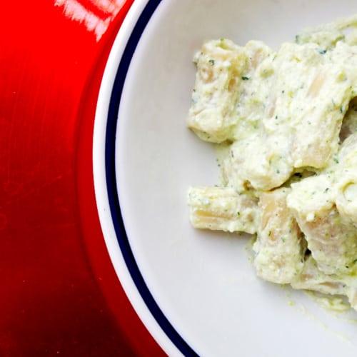 Foto Ricetta Rigatoni di kamut in crema di zucchine, carote e ricotta