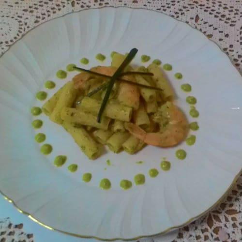 Foto Ricetta Tortiglioni con crema di zucchine e code di mazzancolle