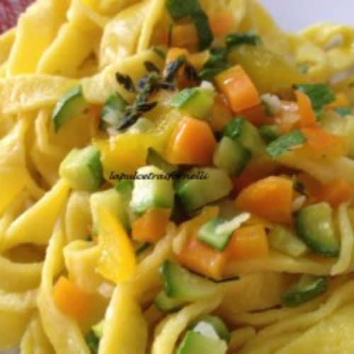 Foto Ricetta Tagliatelle al ragù di verdure