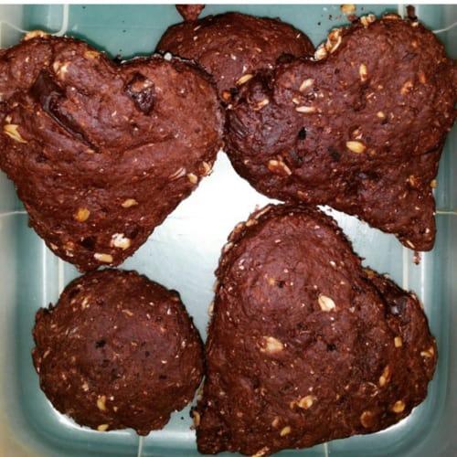 Foto Ricetta Biscotti avena,cacao e gocce di cioccolato
