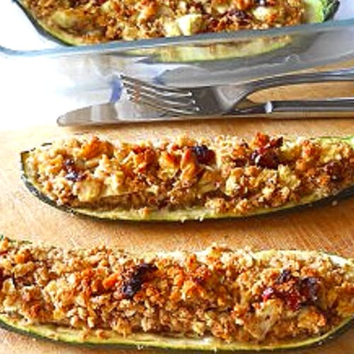 Foto Ricetta Zucchine vegetariane farcite al forno
