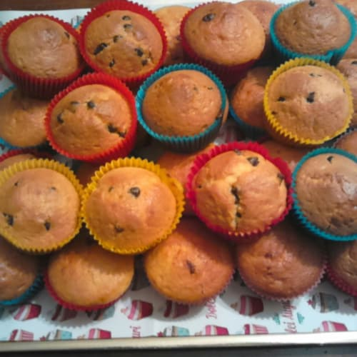 Foto Ricetta Muffin con gocce di cioccolato