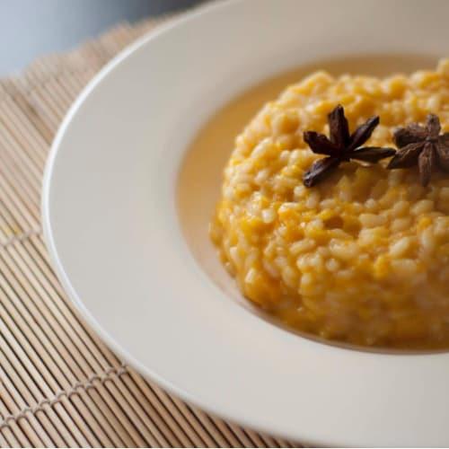 Foto Ricetta Risotto con zucca e pancetta