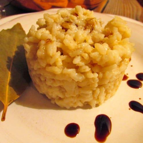 Foto Ricetta Risotto al parmigiano reggiano e aceto balsamico