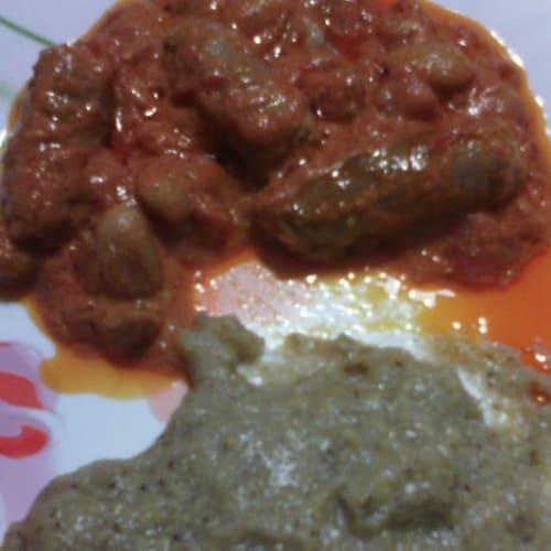 Foto Ricetta Polenta taragna con salsiccia e fagioli in umido