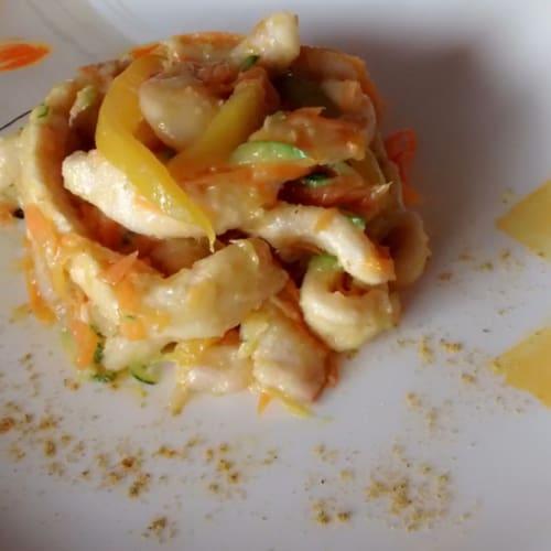 Foto Ricetta Straccetti di pollo al curry con verdure
