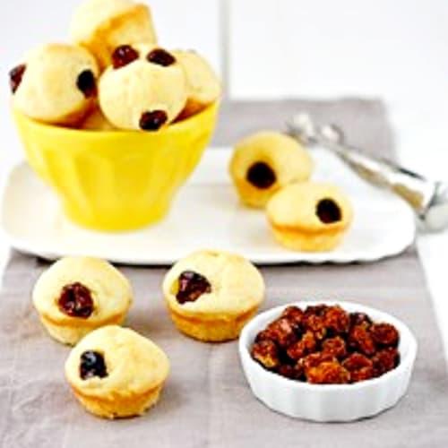 Foto Ricetta Mini cake al formaggio e bacche di physalis