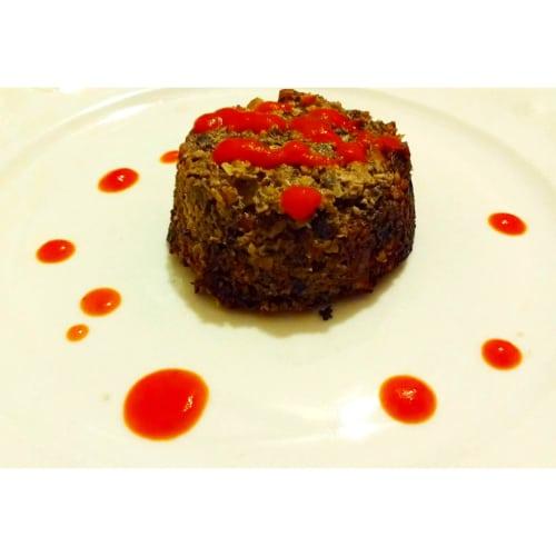 Foto Ricetta Tortino di funghi, noci e caprino, con salsa al pomodoro fresco