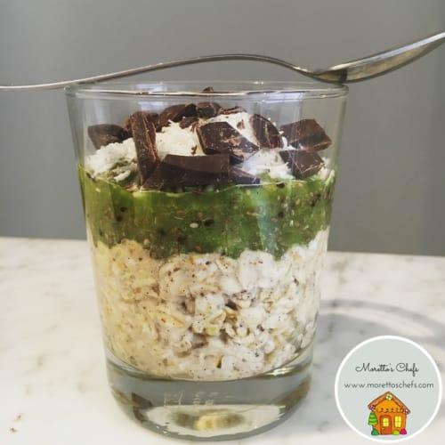 Foto Ricetta Overnight oatmeal kiwi, cocco e semi di chia