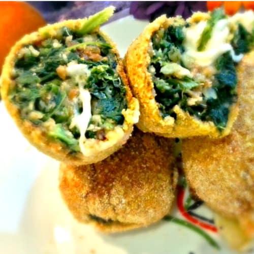Foto Ricetta Crocchè di spinaci al forno