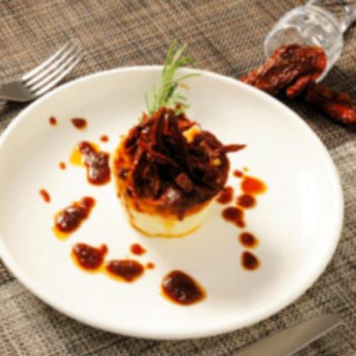 Foto Ricetta Budini di ricotta con pesto di pomodori