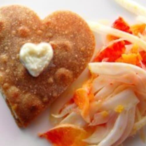 Foto Ricetta Piadina ai finocchi e salmone con insalatina